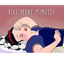 5 More Minutes Photographic Print