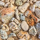 Abstract stones and pebbles by Sue Leonard