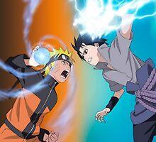 Naruto vs Sasuke  by yass-92