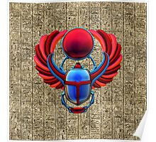 Colorful Egyptian Scarab Poster