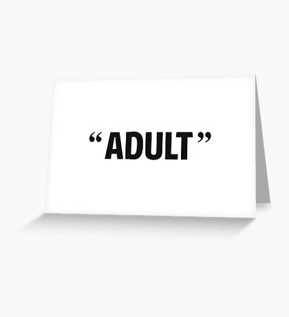 So Called Adult Quotation Marks Greeting Card