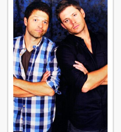 Jensen and Misha Sticker