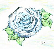 Blue Rose by Teresa White