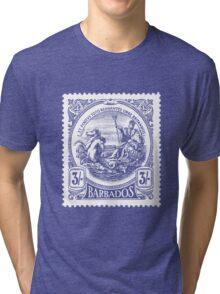 BARBADOS-STAMP Tri-blend T-Shirt