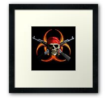 Zombie And Guns Framed Print