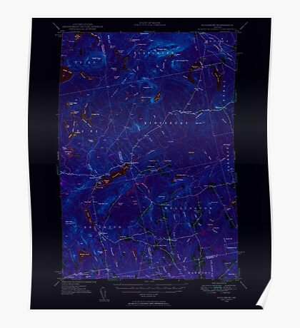 Maine USGS Historical Map Kingsbury 460537 1948 62500 Inversion Poster