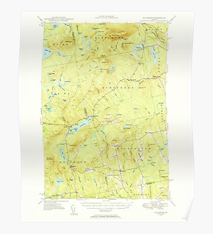 Maine USGS Historical Map Kingsbury 460537 1948 62500 Poster