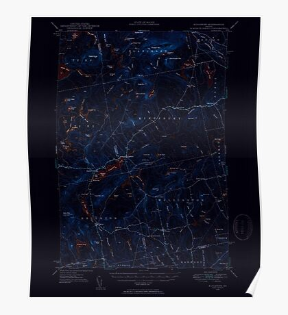 Maine USGS Historical Map Kingsbury 460538 1948 62500 Inversion Poster