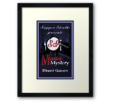 Supper Sleuths Framed Print