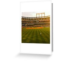 An Evening At The Ballpark Greeting Card