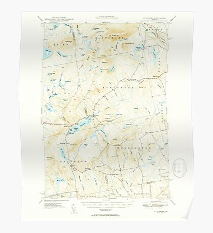 Maine USGS Historical Map Kingsbury 460538 1948 62500 Poster