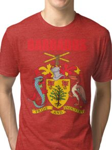 BARBADOS COAT OF ARMS Tri-blend T-Shirt