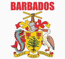 BARBADOS COAT OF ARMS Men's Baseball ¾ T-Shirt