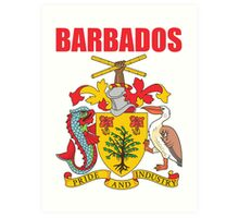 BARBADOS COAT OF ARMS Art Print