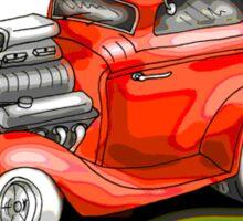 HOT ROD BEAST V8 CHEV STYLE Sticker