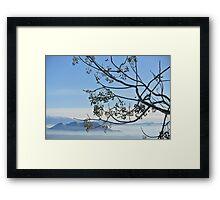 Moclin mist  -Granada Spain Framed Print
