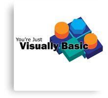 Visually Basic Canvas Print