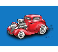 HOT ROD BEAST CHEV STYLE RED Photographic Print