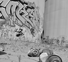 Empty Spray Cans by mtwilsonphotos