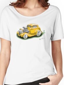 HOT ROD BEAST V8 CHEV STYLE yellow Women's Relaxed Fit T-Shirt