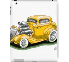 HOT ROD BEAST V8 CHEV STYLE yellow iPad Case/Skin