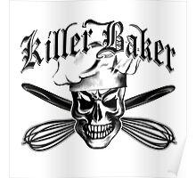 Baker Skull 3: Killer Baker and Crossed Whisks Poster