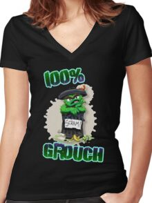 Don't Be A Grouch Women's Fitted V-Neck T-Shirt