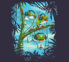 Frog Trio Rockin The Beats in Rainforest Unisex T-Shirt