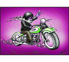 PSYCHEDELIC HARLEY STYLE MOTORCYCLE DESIGN Photographic Print