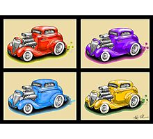 HOT ROD FOUR PACK CAR DESIGN Photographic Print
