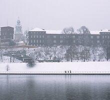 Wawel Castle in winter, Krakow by Kasia Nowak