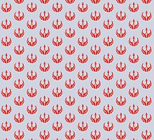 Rebels Segmented Logo (Grey Background, Pattern 2) by JoshBeck