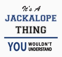 It's a JACKALOPE thing, you wouldn't understand !! by thinging