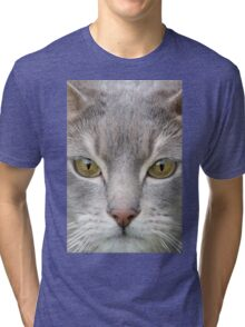 Cats eyes looking at camera close up Tri-blend T-Shirt
