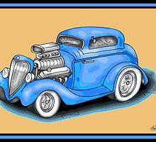 HOT ROD CAR DESIGN by squigglemonkey
