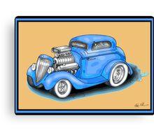 HOT ROD CAR DESIGN Canvas Print