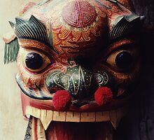 Dragon Mask for Chinese New Year by Anna Lisa Yoder