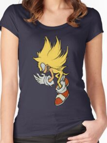 Super Sonic  - Fleetway Sonic the Comic (01) Women's Fitted Scoop T-Shirt
