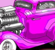 HOT ROD CHEV STYLE CAR PINK Sticker