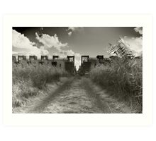 Dirt Track To Suburbia Art Print