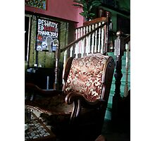 Old chair - Modern art Photographic Print