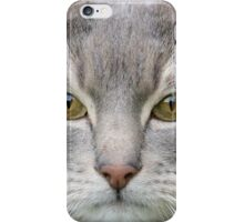 Cats eyes looking at camera close up iPhone Case/Skin