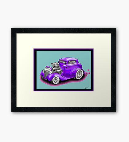 HOT ROD CHEV STYLE CAR Framed Print