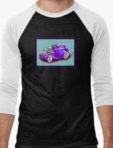 HOT ROD CHEV STYLE CAR Men's Baseball ¾ T-Shirt