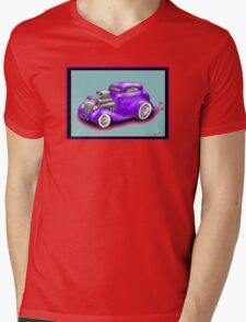 HOT ROD CHEV STYLE CAR Mens V-Neck T-Shirt