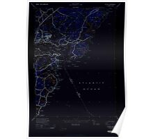 Maine USGS Historical Map Kittery 460539 1944 24000 Inversion Poster