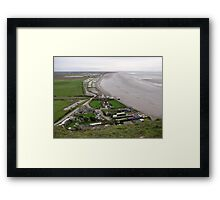 BREAN DOWN COVE WEST SOMERSET Framed Print