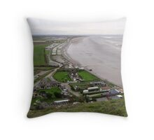 BREAN DOWN COVE WEST SOMERSET Throw Pillow