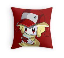 Sleepy Red Throw Pillow