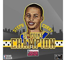 THREE POINT CHAMPION - Stephen Curry - SMILE DESIGN 2015 Photographic Print